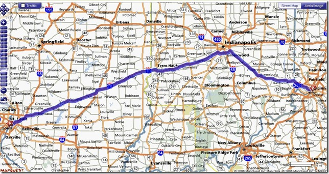 st-louis to cincinnati